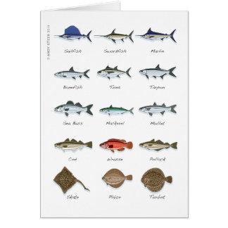 Sea fish card