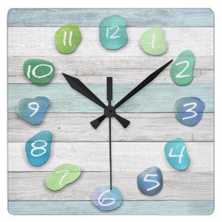 Sea Glass Beach Driftwood Ocean Clock