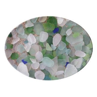 Sea Glass Serving Platter Porcelain Serving Platter