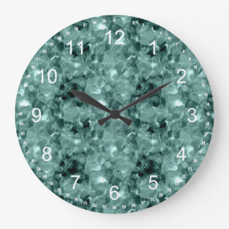 Sea Green abstract Clocks