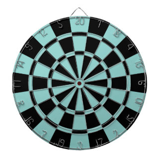 Sea Green And Black Dartboard