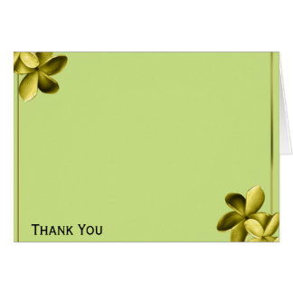 Sea Green and Yellow Plumeria Card