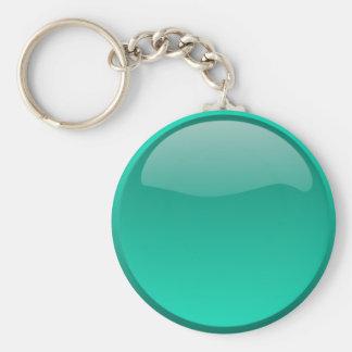 Sea green Button Keychain