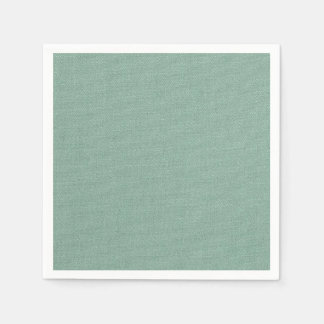 Sea Green Chenille Disposable Serviette