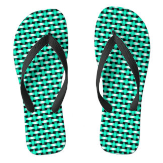 Sea Green Metallic Mesh Aqua Jandals