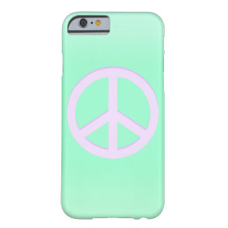 Sea Green Peace Sign Iphone 6/6s Case Barely There iPhone 6 Case