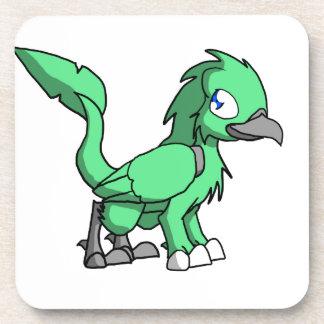 Sea Green SD Reptilian Bird Dragon Drink Coaster