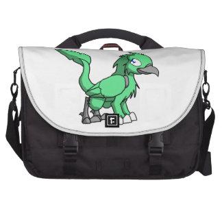 Sea Green SD Reptilian Bird Dragon Laptop Bags