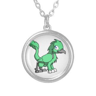 Sea Green SD Reptilian Bird Dragon Necklace