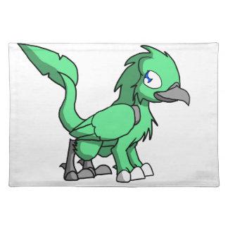 Sea Green SD Reptilian Bird Dragon Placemats
