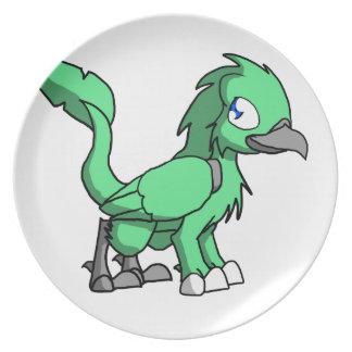 Sea Green SD Reptilian Bird Dragon Plate