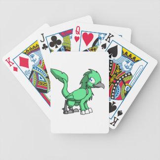 Sea Green SD Reptilian Bird Dragon Poker Cards