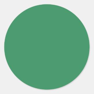 Sea Green Round Sticker