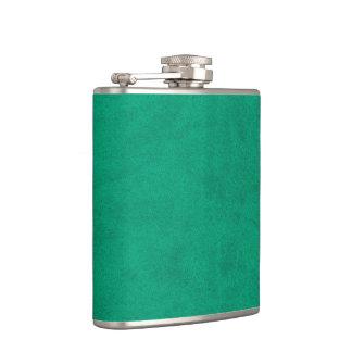 Sea Green Velvet Personalized Home Casino Hip Flask