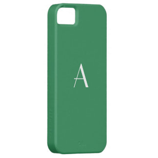 Sea Green White Monogram Case For The iPhone 5