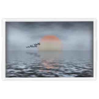Sea Horizon Acrylic Tray