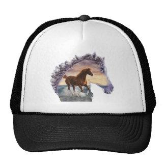 Sea horse trucker hat