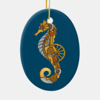 SEA HORSE STEAMPUNK ART CHRISTMAS ORNAMENT