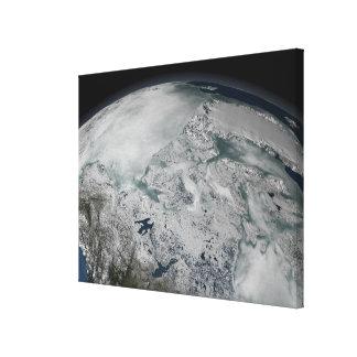 Sea ice above North America Canvas Prints
