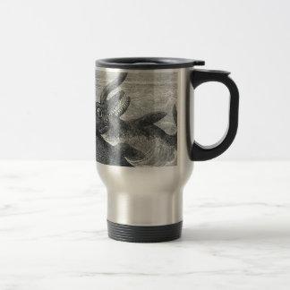 Sea Monster Vs. Sea Serpent Stainless Steel Travel Mug