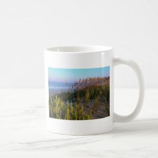 Sea Oats and Beach Basic White Mug