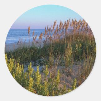 Sea Oats and Beach Elder Round Sticker