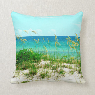 Sea Oats and Dune Grass Beach Pillow Throw Cushions