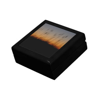 Sea Oats and Dunes at Sunset Small Square Gift Box