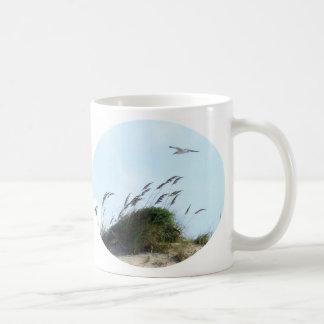 Sea oats and sea gull mug
