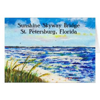 Sea Oats and Sunshine Skyway Tampa Bay Florida Card
