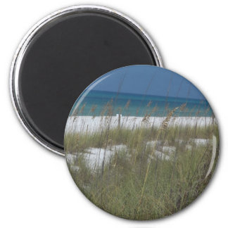 Sea Oats and Waves 6 Cm Round Magnet