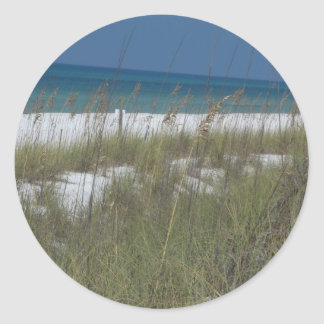Sea Oats and Waves Round Sticker