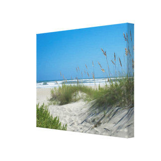 Sea Oats at Ocracoke Stretched Canvas Print