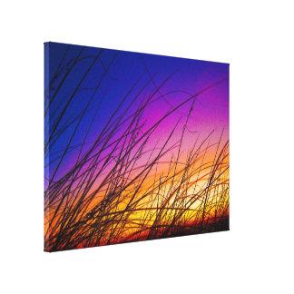 Sea Oats at Sunrise on Daytona Beach III Canvas Print