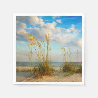 Sea Oats At the Beach Paper Napkin