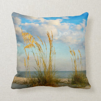 Sea Oats At the Beach Throw Pillow