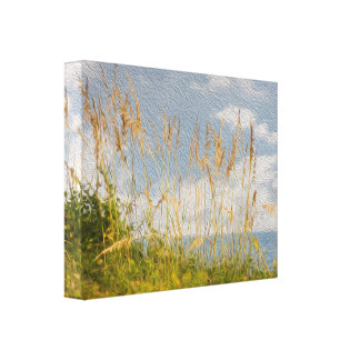 Sea Oats Faux Oil Painting Canvas Canvas Print