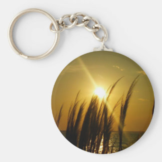 Sea Oats Gifts Basic Round Button Key Ring