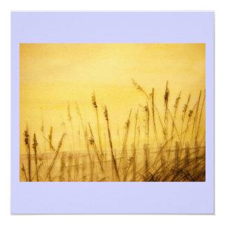 sea oats 13 cm x 13 cm square invitation card