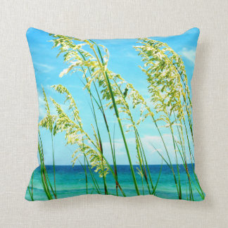 Sea Oats Ocean Beach Pillow