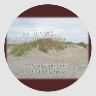 Sea Oats on Sand Dune Outer Banks NC Round Sticker