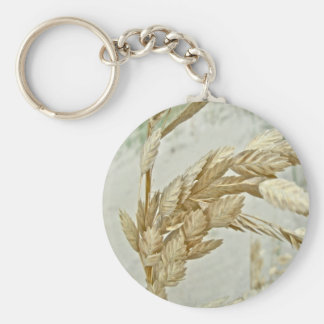 Sea Oats Outer Banks NC Series Basic Round Button Key Ring