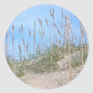 Sea Oats Outer Banks NC Series Round Sticker