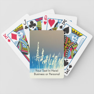 sea oats outline yellow abstract beach image poker deck