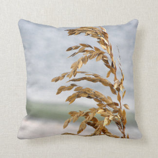 Sea Oats, Sea Breeze Throw Pillow