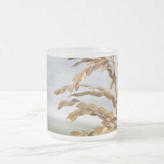 Sea Oats, Sea Breeze Frosted Glass Coffee Mug