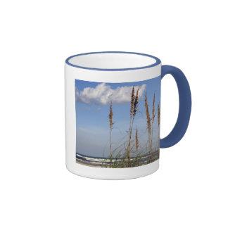 Sea Oats, Waves and Sky Ringer Mug