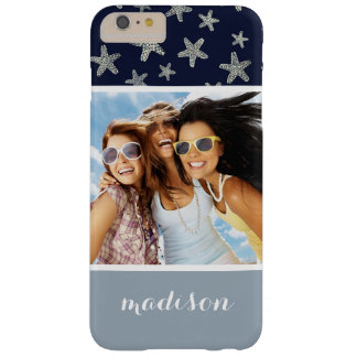 Sea Of Starfish Pattern | Your Photo & Name Barely There iPhone 6 Plus Case