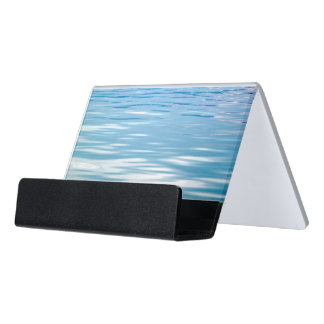 Sea of Tranquility Desk Business Card Holder