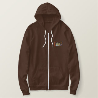 Sea Otter Embroidered Hoodie